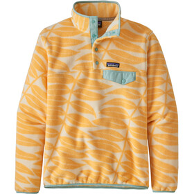 Patagonia Lightweight Synchchilla Snap-T Pullover Women eucalyptus fronds/vela peach